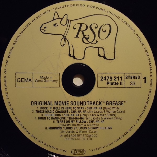 grease the original soundtrack from the motion picture