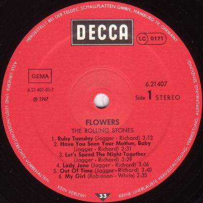 """The Rolling Stones – """"Flowers"""""""