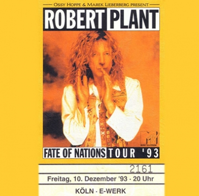 Robert Plant - 1993-12-10 - Cologne, DE [2 CD]
