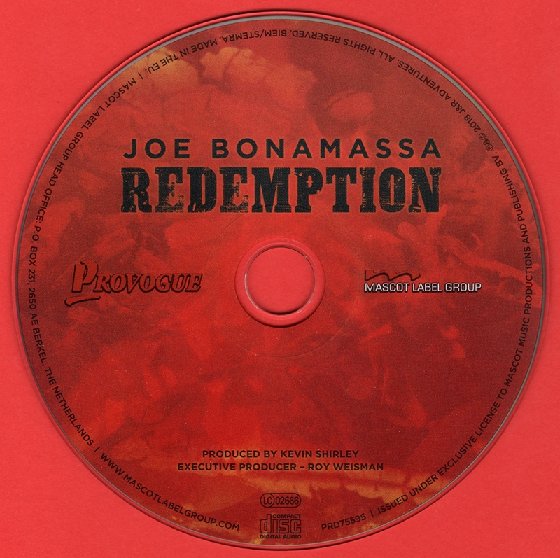 Joe Bonamassa - Redemption (Limited Edition Deluxe Version) (2018)